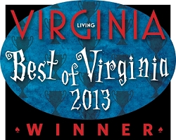 Best of Virginia 2013 Winner's Window Decal (4.25